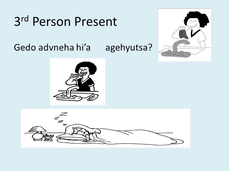 3 rd Person Present Gedo advneha hi'aagehyutsa