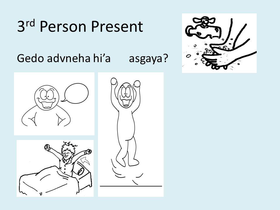 3 rd Person Present Gedo advneha hi'aasgaya