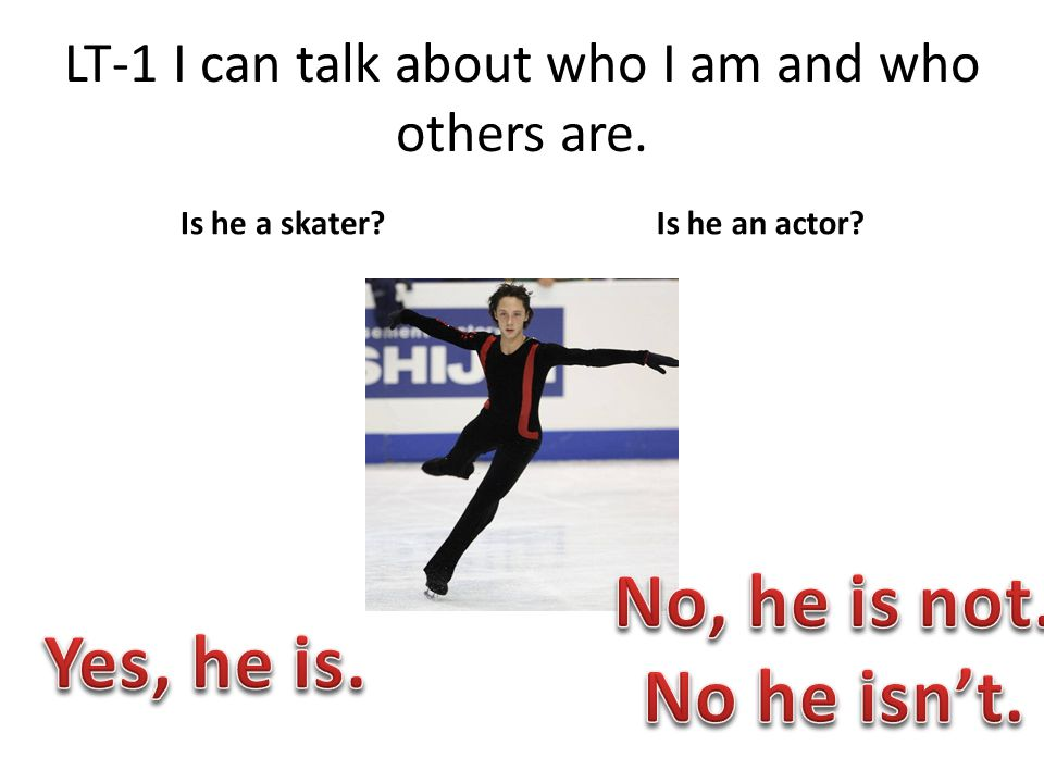 LT-1 I can talk about who I am and who others are. Is he a skater Is he an actor