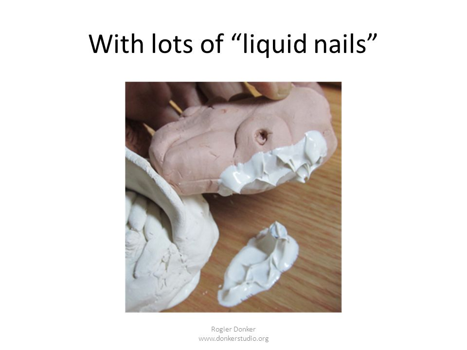 With lots of liquid nails Rogier Donker www.donkerstudio.org