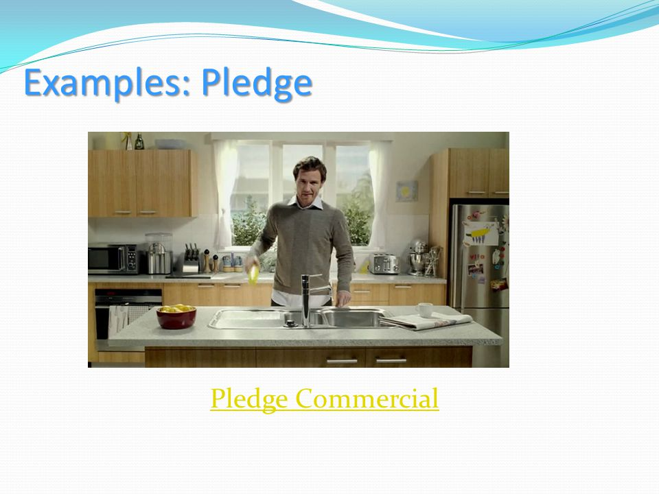 Examples: Pledge Pledge Commercial
