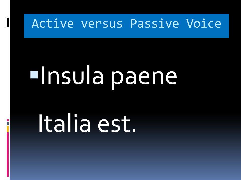 Active versus Passive Voice  Insula paene Italia est.