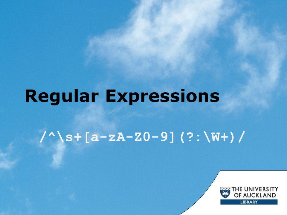 Regular Expressions /^\s+[a-zA-Z0-9](?:\W+)/
