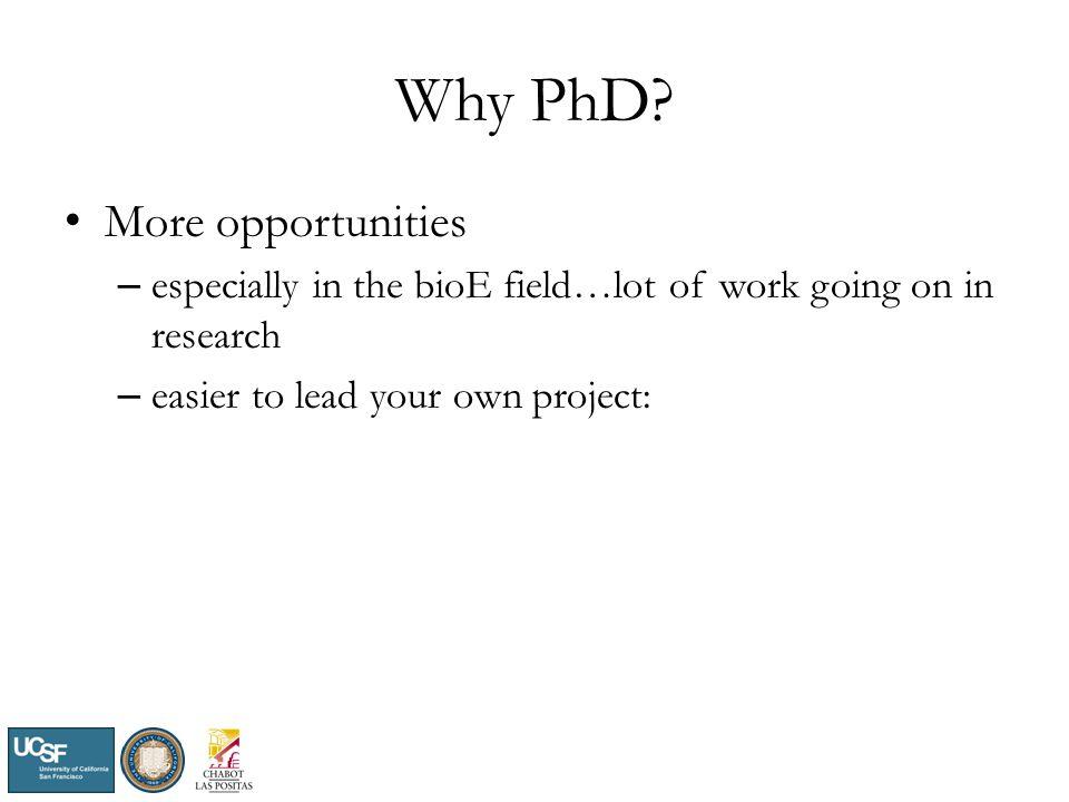 Why PhD.