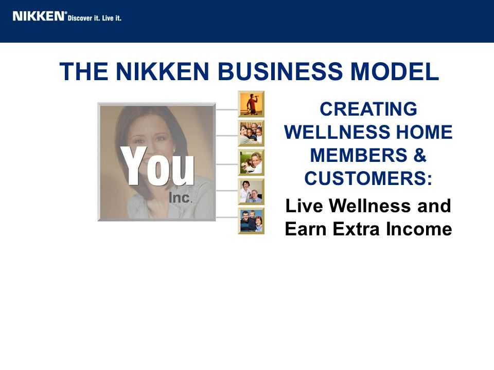 THE NIKKEN BUSINESS MODEL CREATING WELLNESS HOME MEMBERS & CUSTOMERS: Live Wellness and Earn Extra Income