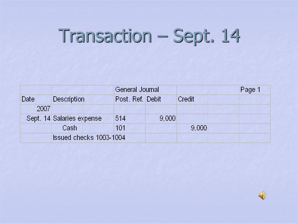 Transaction – Sept. 12