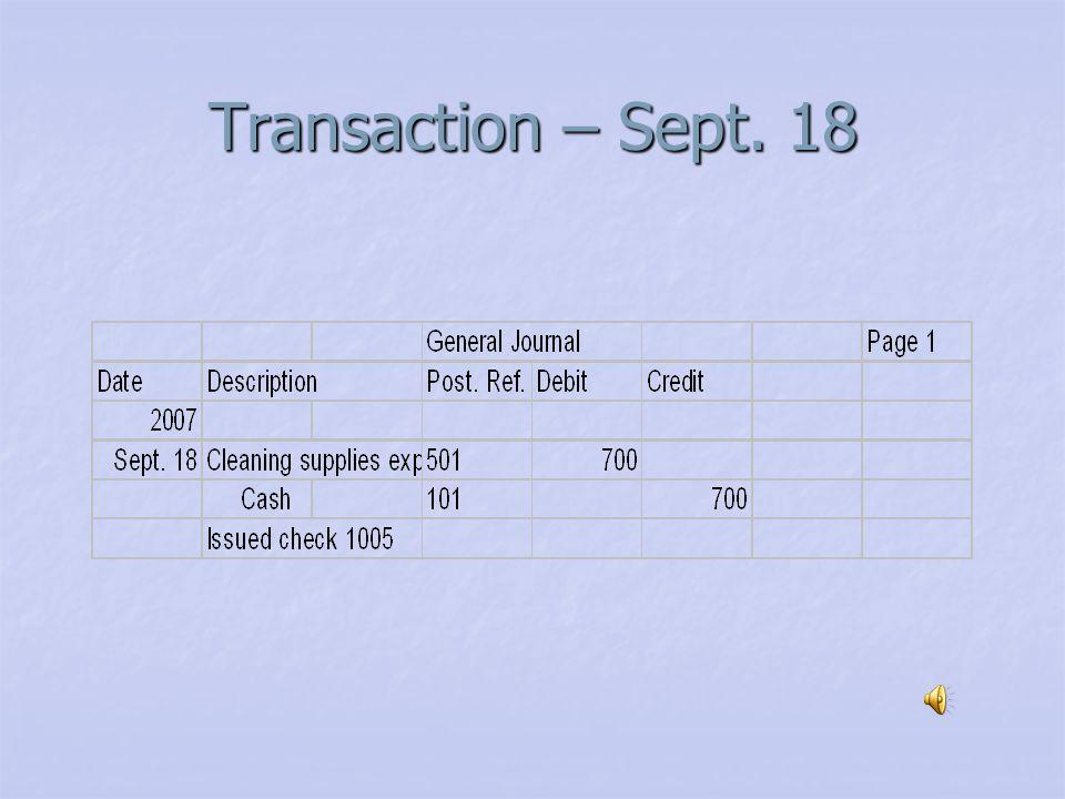 Transaction – Sept. 14