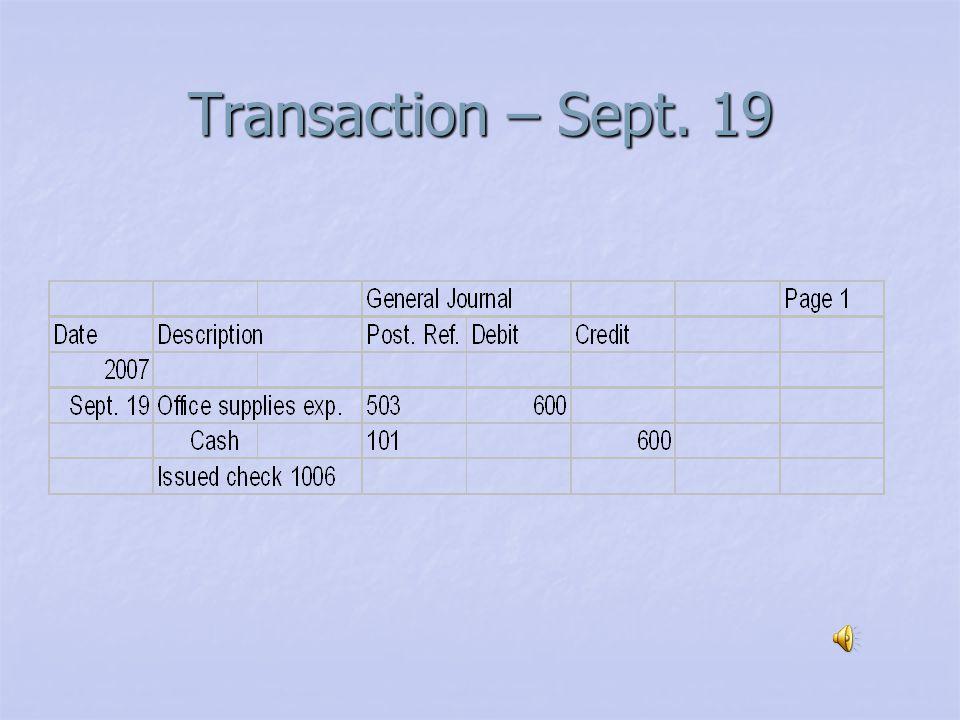 Transaction – Sept. 18