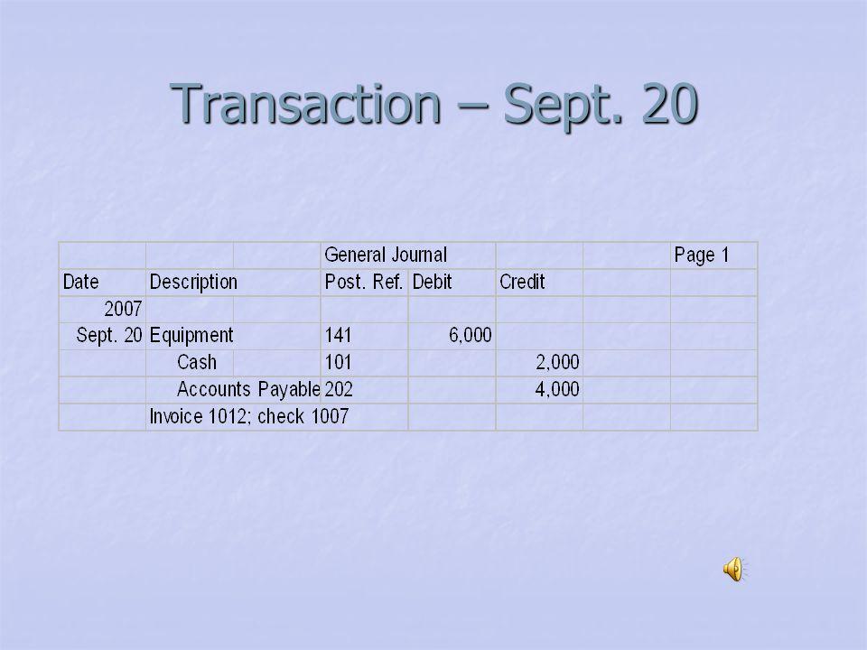 Transaction – Sept. 19