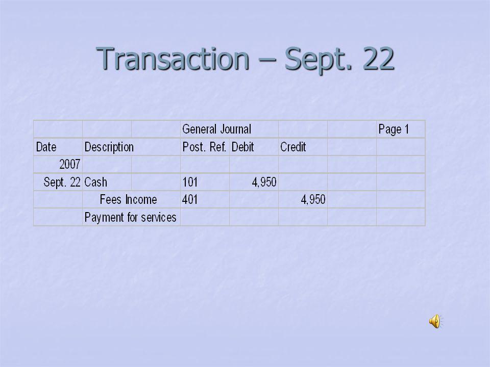 Transaction – Sept. 20