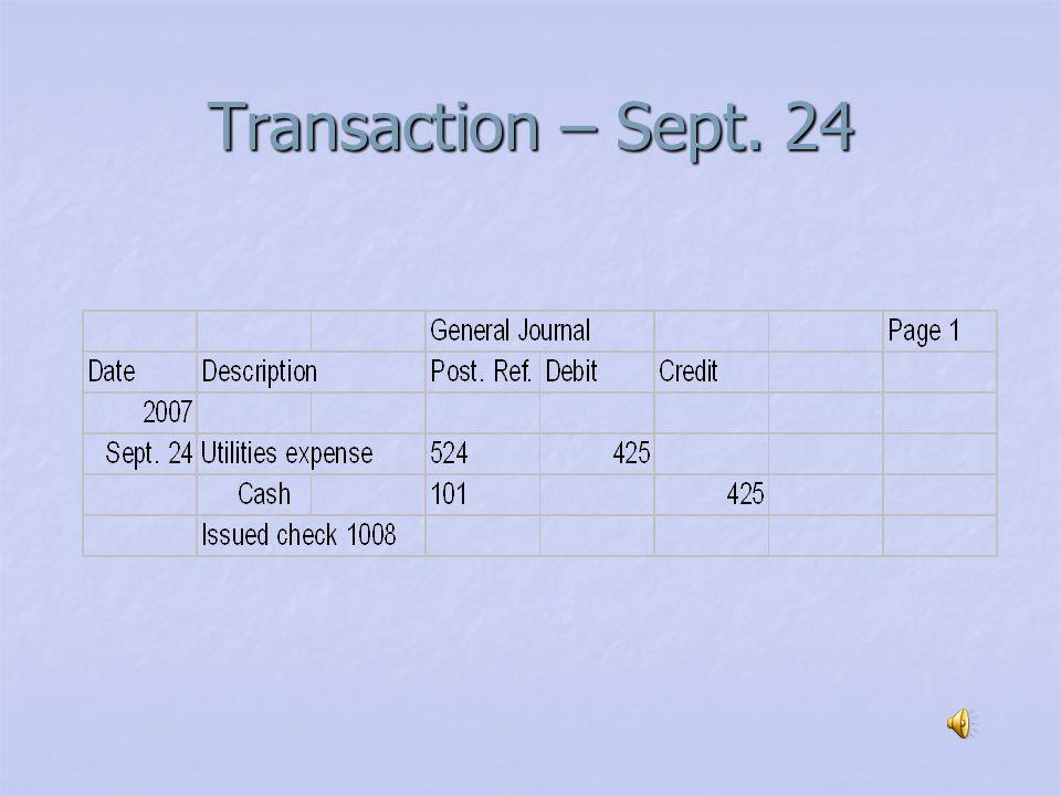 Transaction – Sept. 22