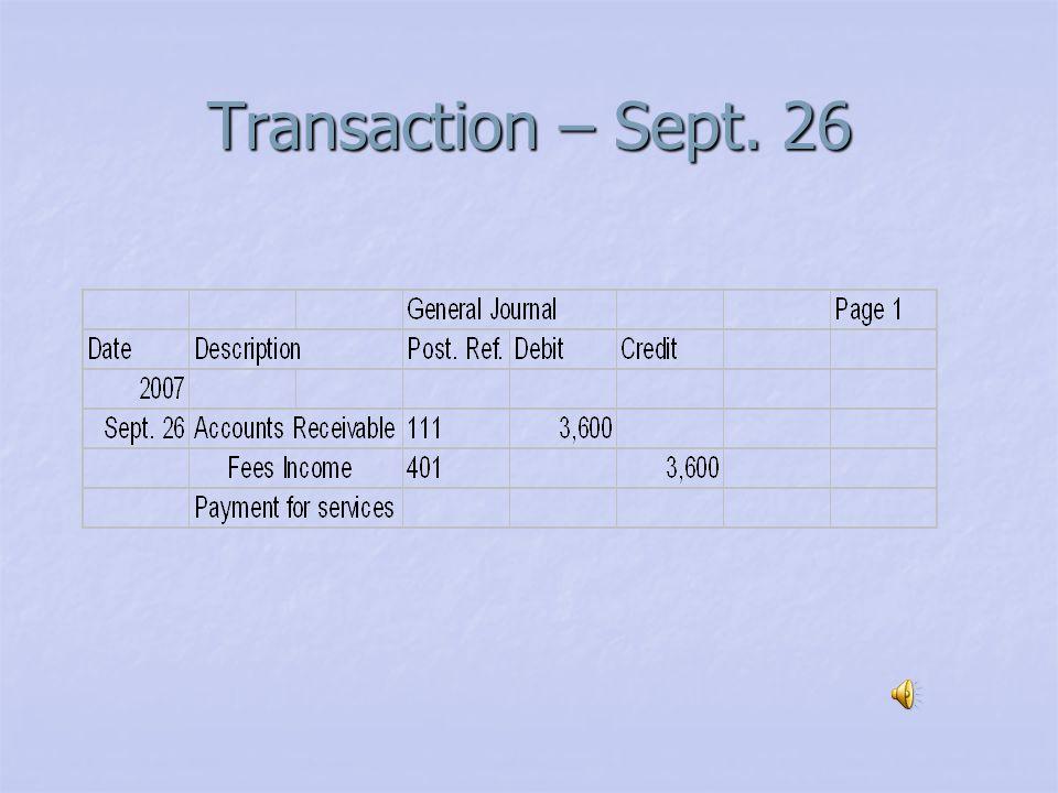 Transaction – Sept. 24