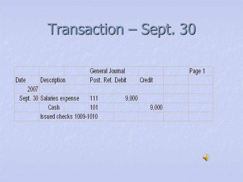 Transaction – Sept. 26