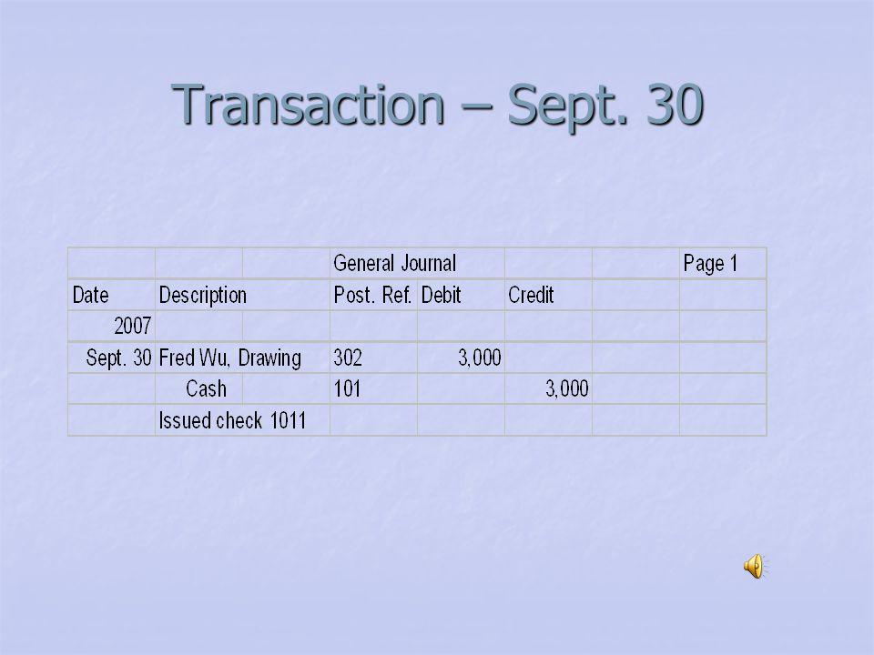 Transaction – Sept. 30