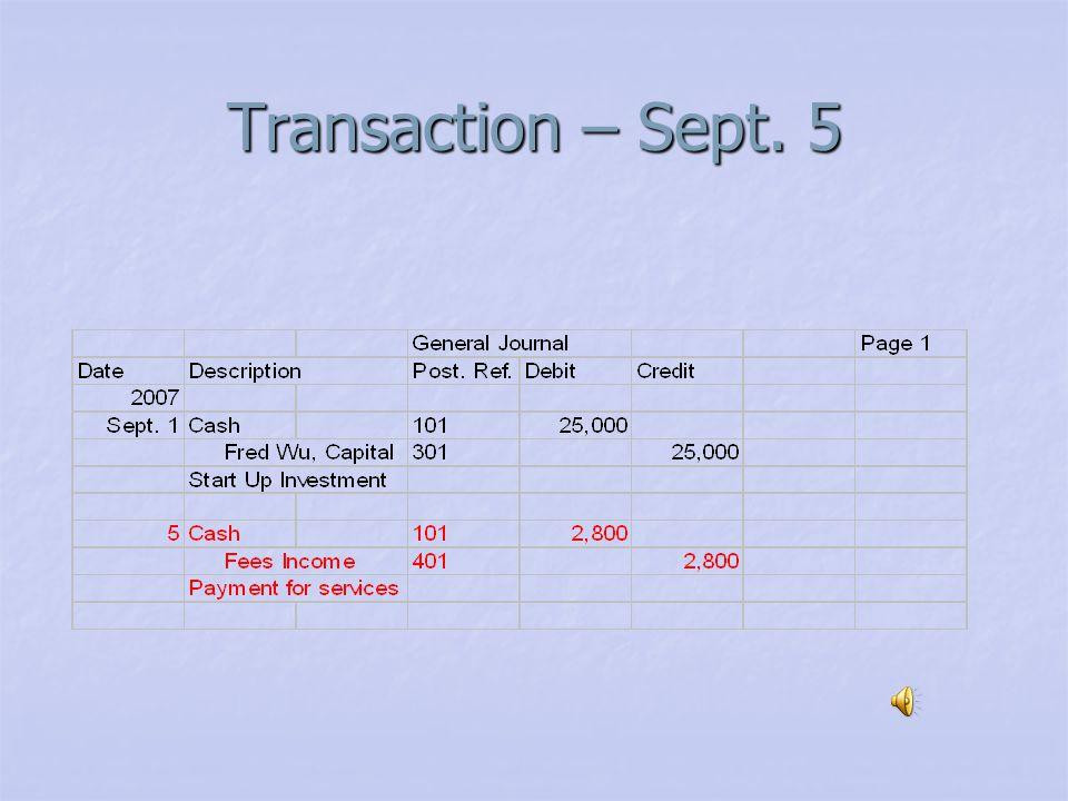 Transaction – Sept. 1