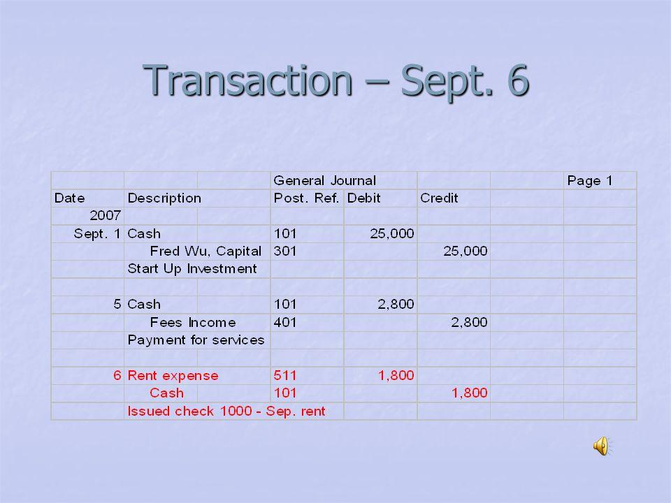 Transaction – Sept. 5