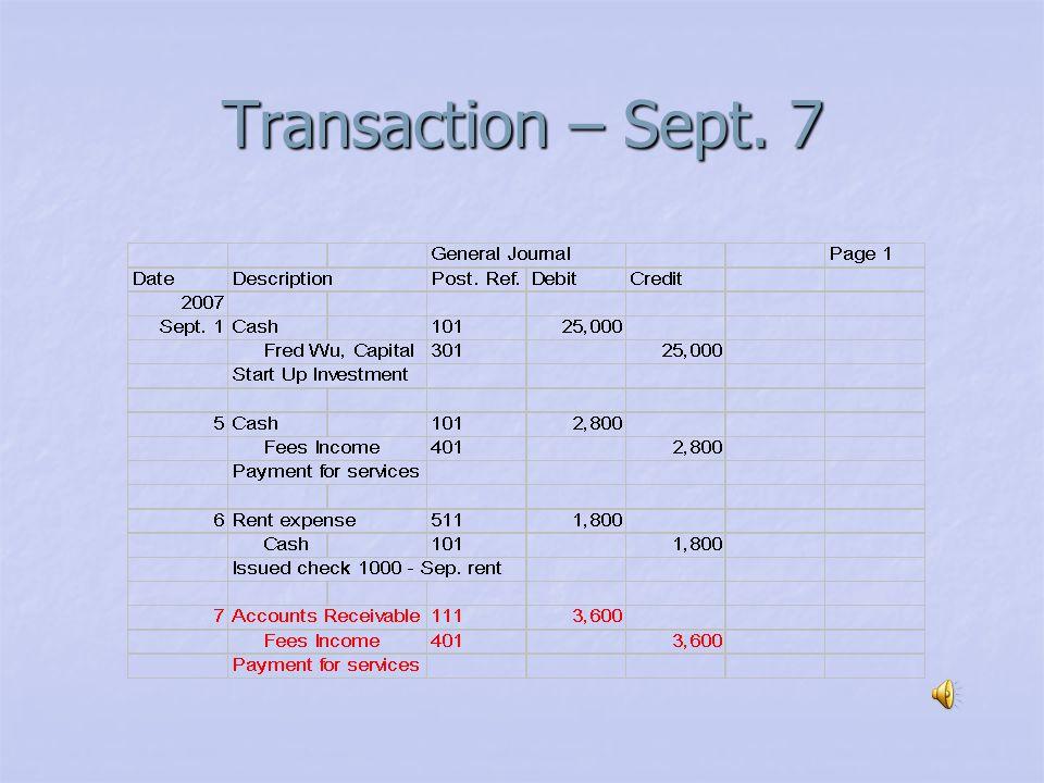Transaction – Sept. 6