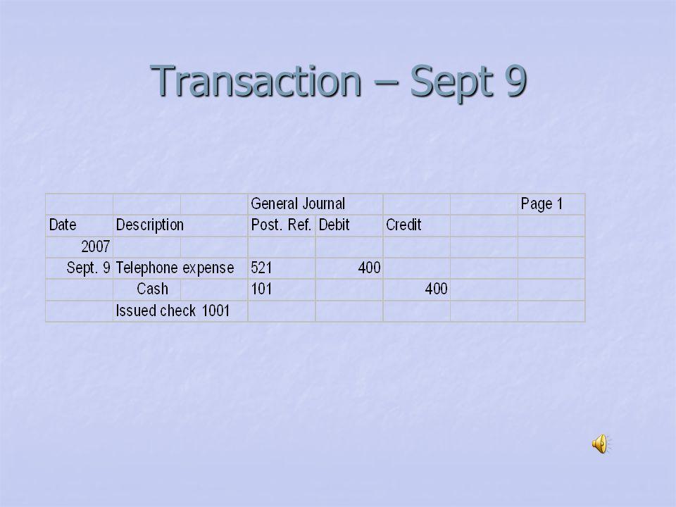 Transaction – Sept. 7