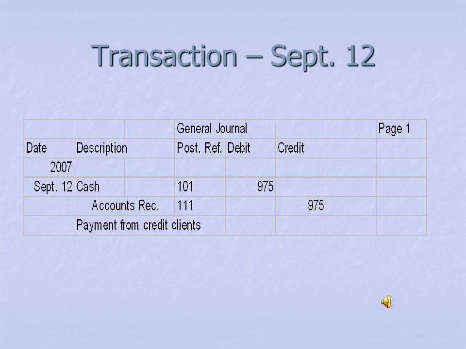 Transaction – Sept. 10