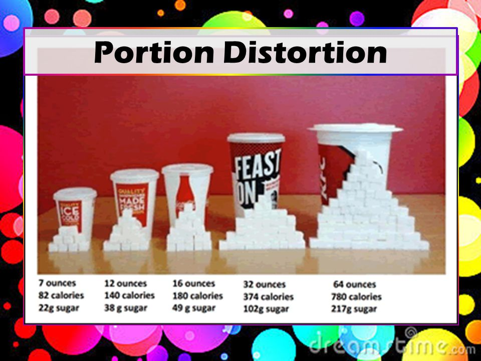 Serving vs Portion Size 8 oz = 2.5 servings/bottle 31 g x 2.5 = 77.5 g of sugar 77.5 g / 4.2 g = 18.5 teaspoons of sugar!