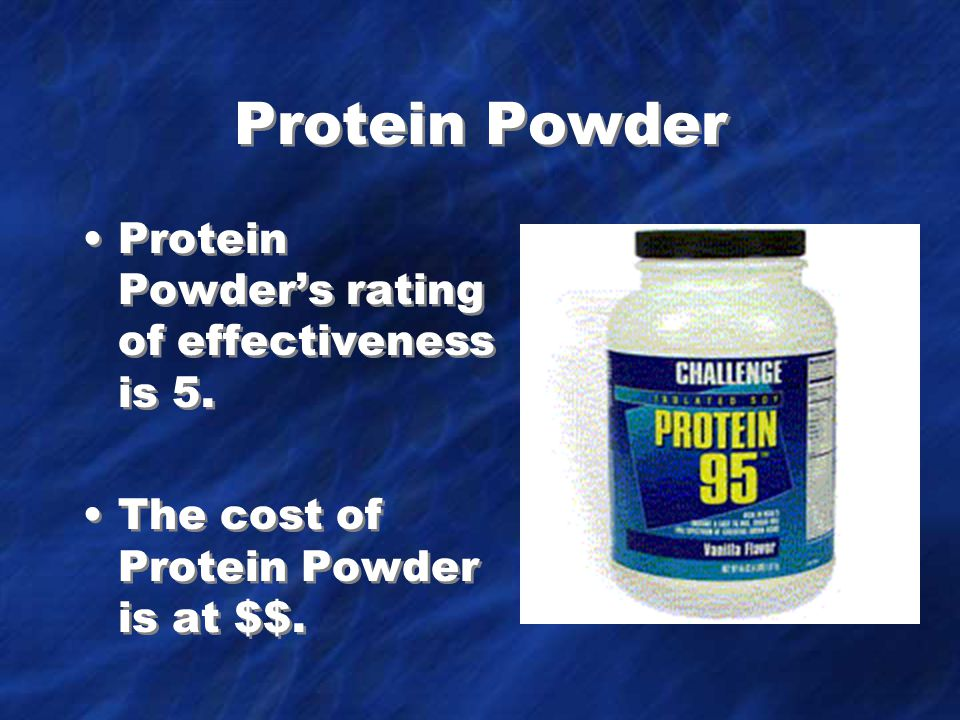 Protein Powder Protein Powder's rating of effectiveness is 5.