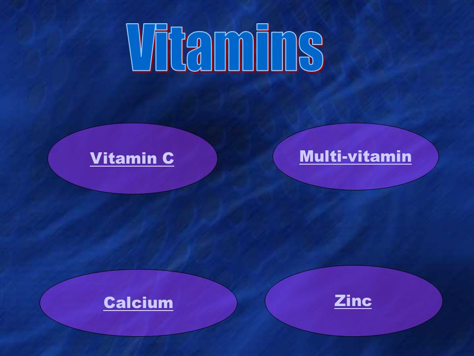 Vitamin C Multi-vitamin Calcium Zinc
