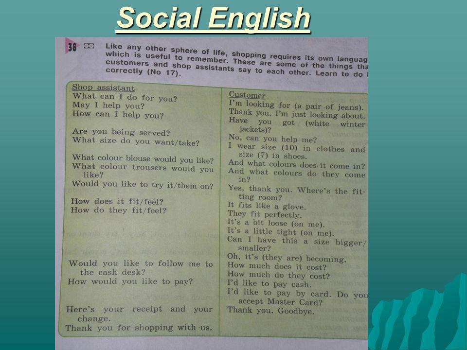 Social English