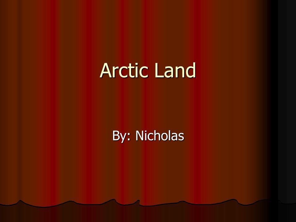 Arctic Land By: Nicholas