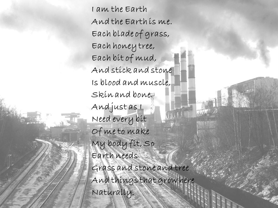 I am the Earth And the Earth is me.