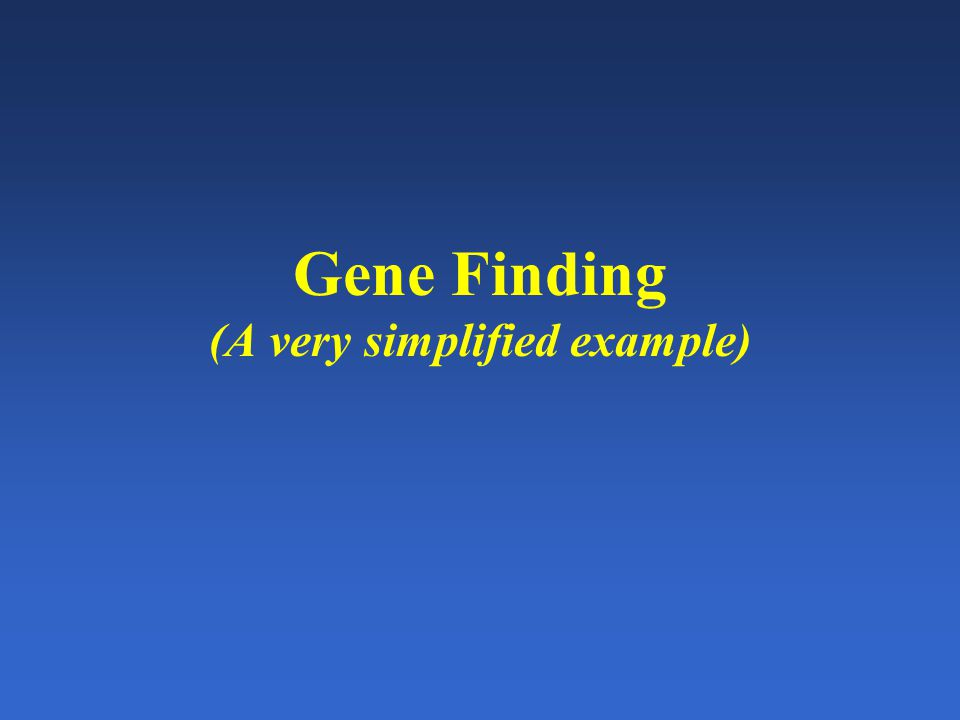 How to find a gene given a sequence.