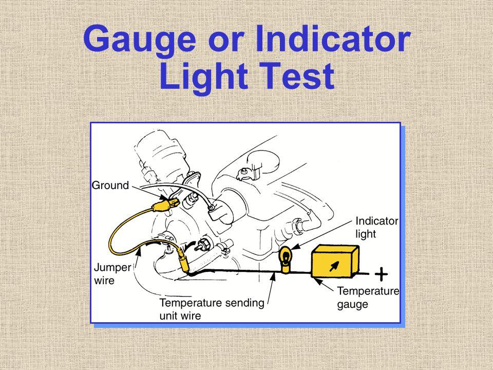 Gauge or Indicator Light Test