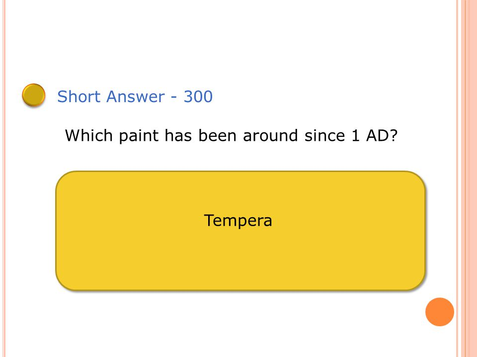 Short Answer - 200 Impressionism was create with which paint? Oil