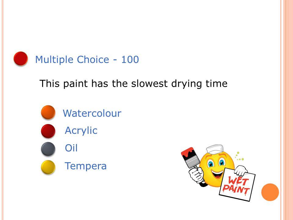 True or False - 500 Gouache is a form of oil paint