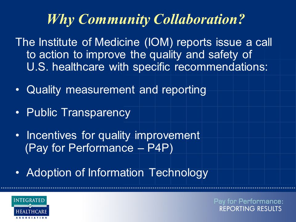 Why Community Collaboration.