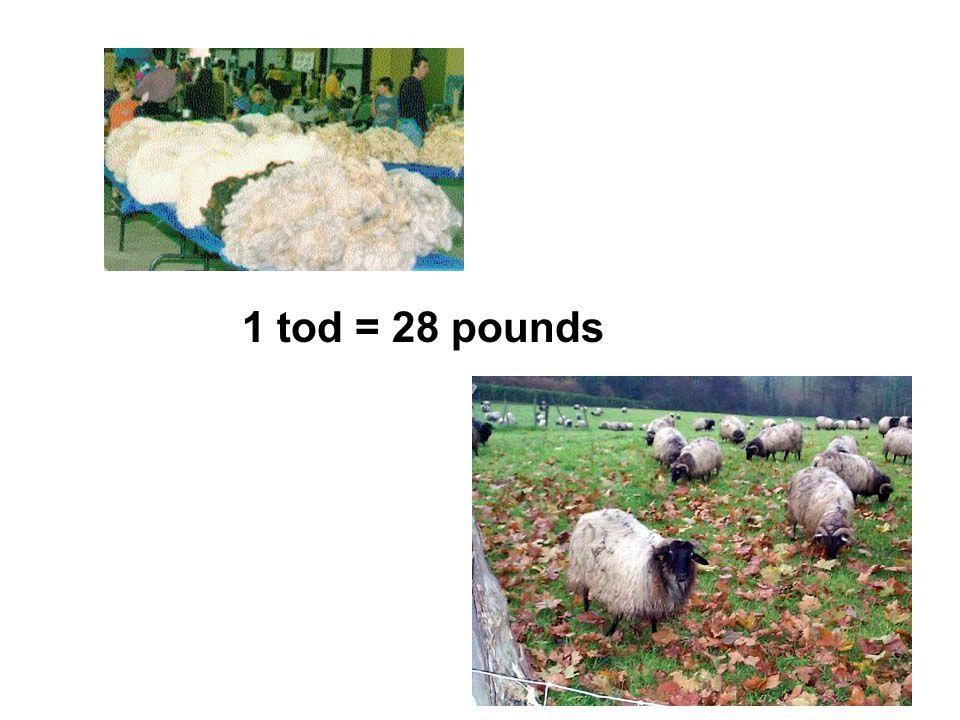 1 tod = 28 pounds