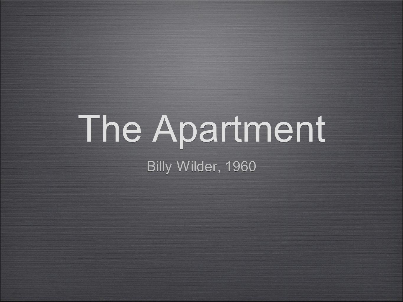 The Apartment Billy Wilder, 1960