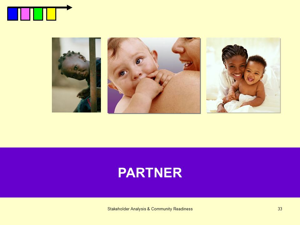 Stakeholder Analysis & Community Readiness33 PARTNER