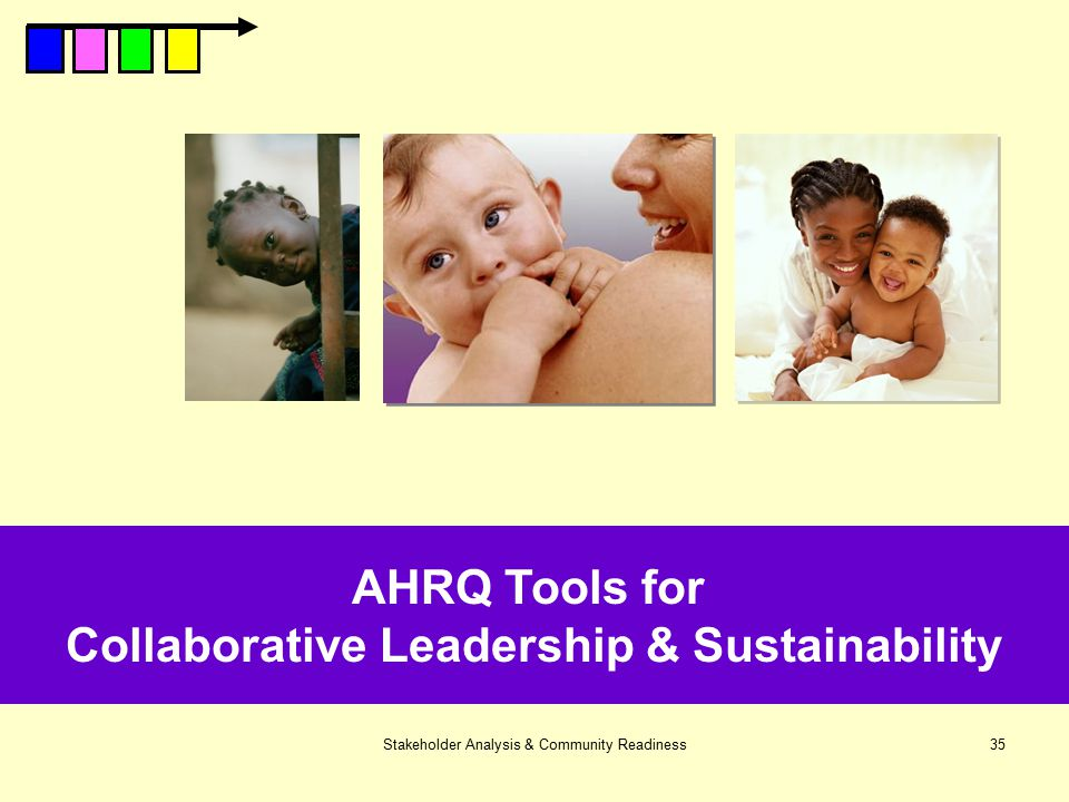 Stakeholder Analysis & Community Readiness35 AHRQ Tools for Collaborative Leadership & Sustainability