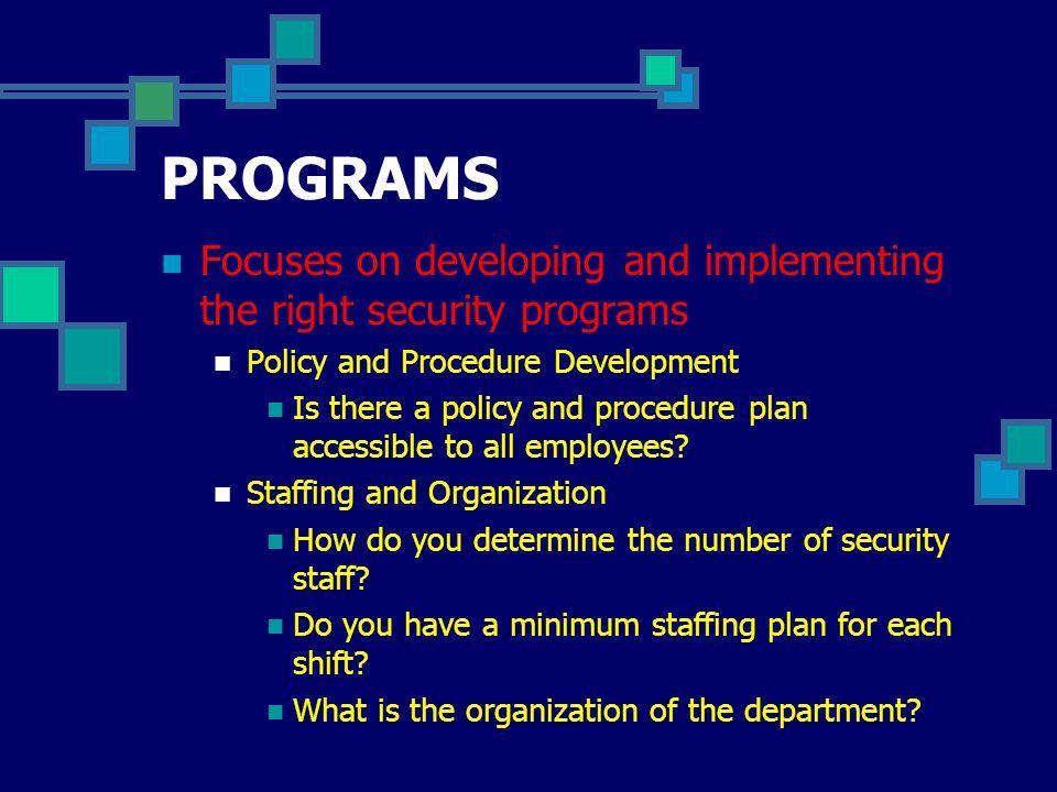 The Written Security Plan Part II
