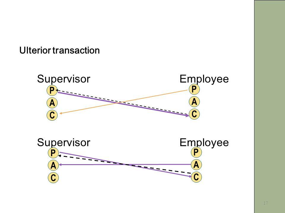 17 Ulterior transaction SupervisorEmployee P C A P C A P C A P C A