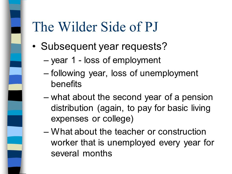 The Wilder Side of PJ Subsequent year requests.