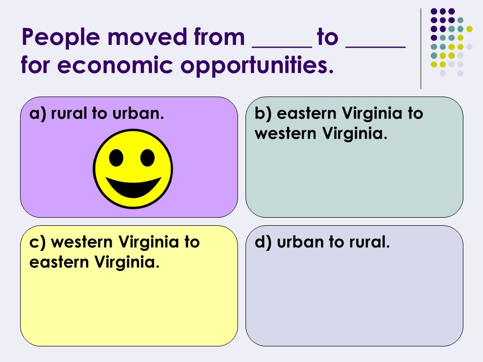 The agricultural society in Virginia was declining because _________.