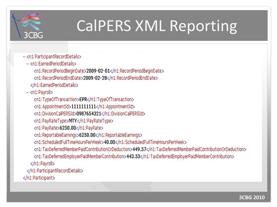 CalPERS XML Reporting