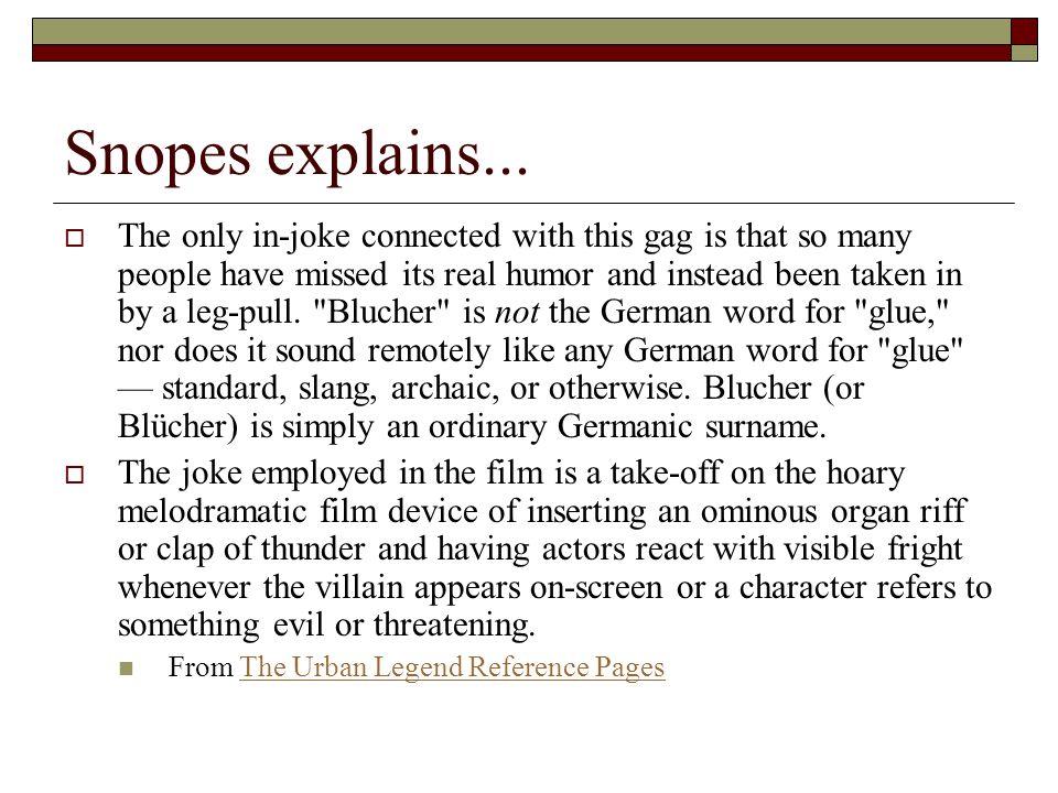 Snopes explains...