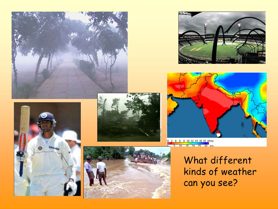 What different kinds of weather can you see?