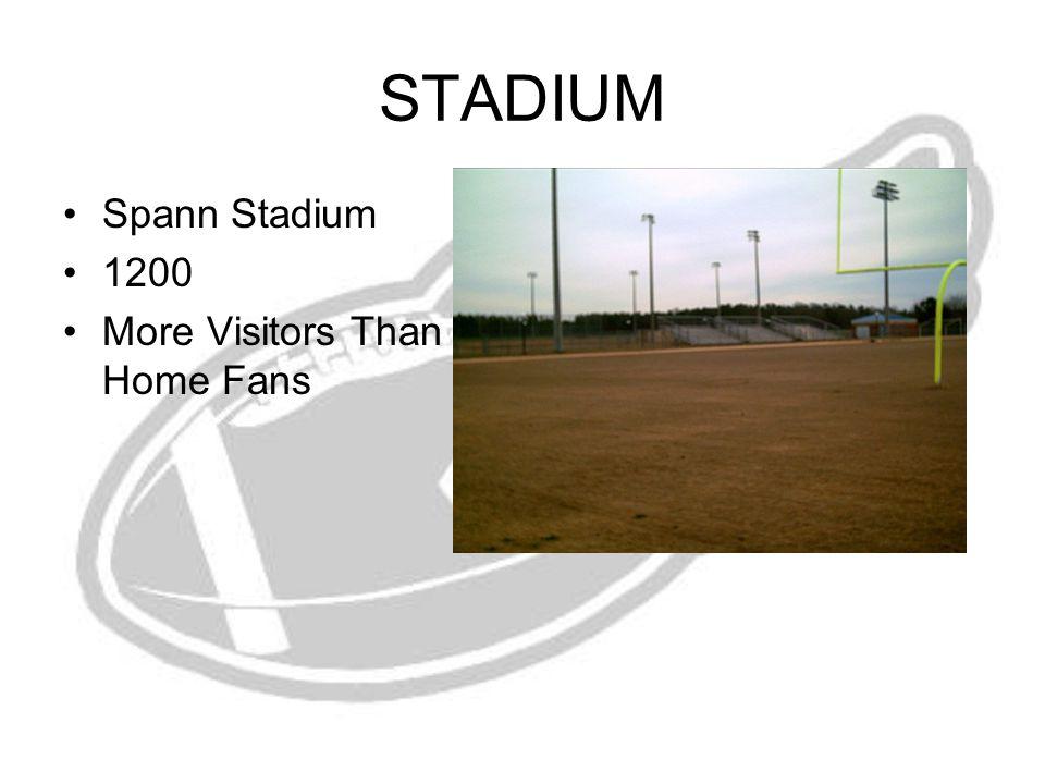 STADIUM Spann Stadium 1200 More Visitors Than Home Fans