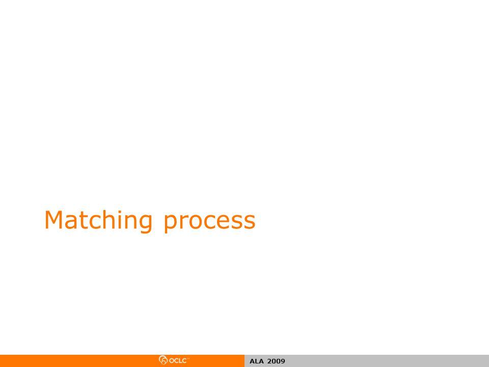 ALA 2009 Matching process