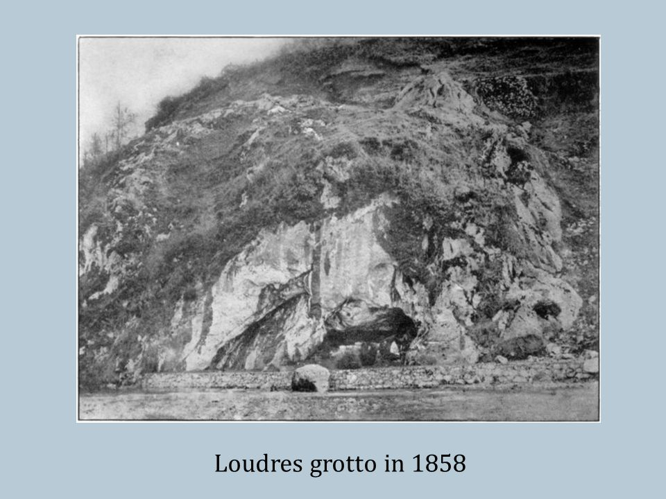Loudres grotto in 1858