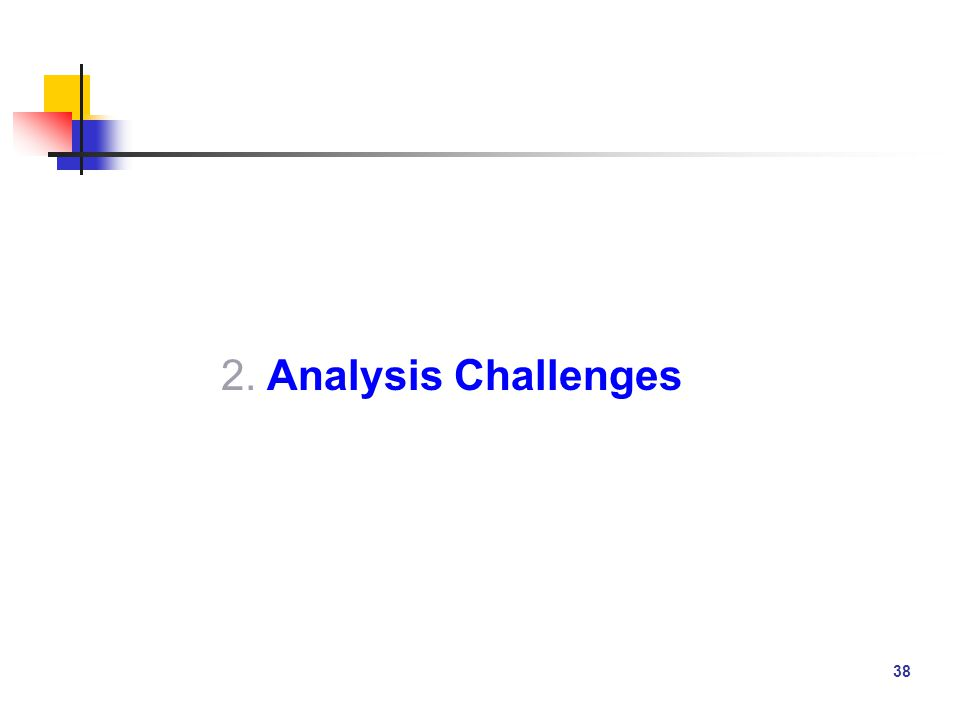 38 2. Analysis Challenges
