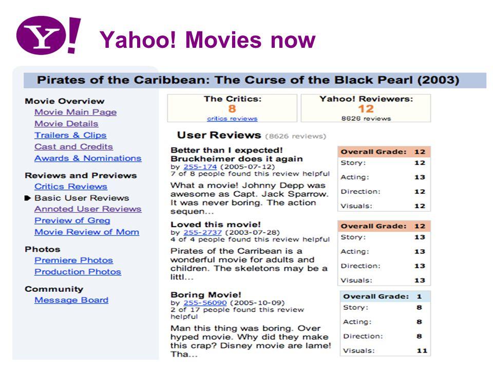 Yahoo! Movies now